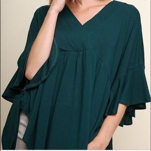 Teal Green Baby Doll Top